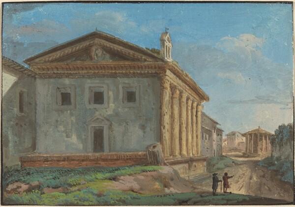Tempio della Fortuna Virile with the Tempio di Vesta in the Distance