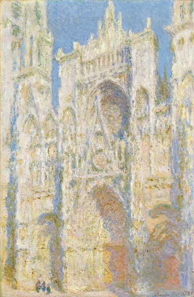 Rouen Cathedral, West Façade, Sunlight