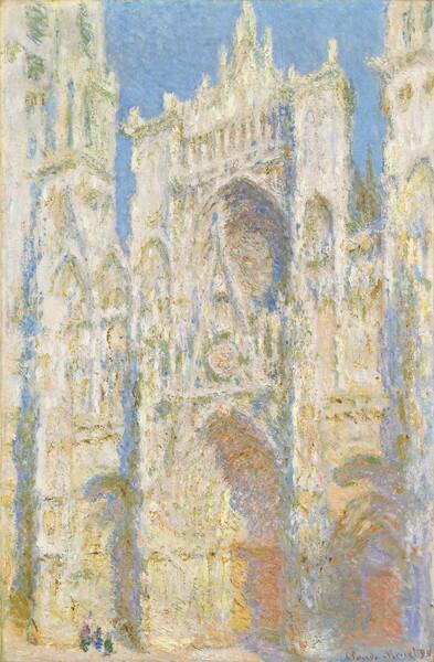 ルーアン大聖堂、西ファサード、日光