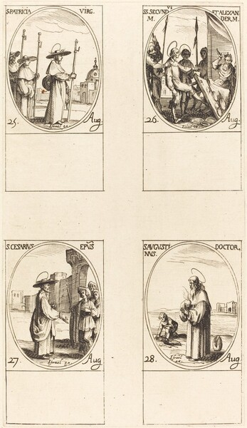 St. Patricia; Sts. Secundus and Alexander; St. Cesarius; St. Augustin