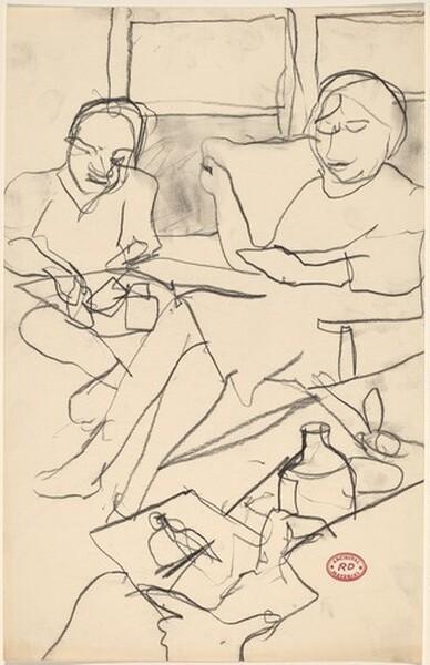 Untitled [seated figures]