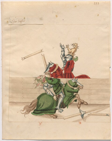 Freydal, The Book of Jousts and Tournament of Emperor Maximilian I: Combats on Horseback (Jousts)(Volume II): Plate 99