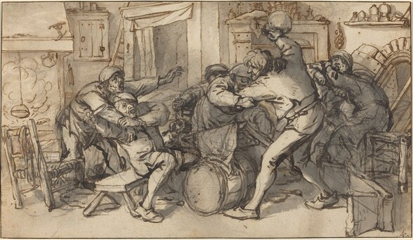 Peasants Fighting in a Tavern