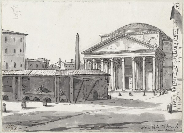The Pantheon Seen from the Piazza