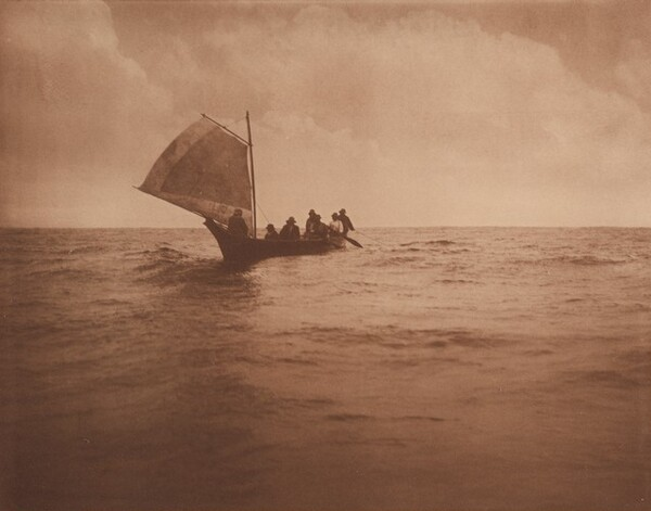 Indian Whalers Homeward Bound from the Pacific