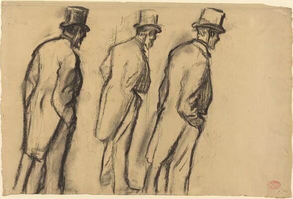 Three Studies of Ludovic Halévy Standing