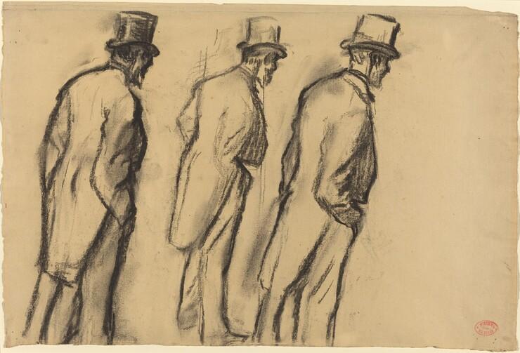 Edgar Degas, Three Studies of Ludovic Halévy Standing, c. 1880