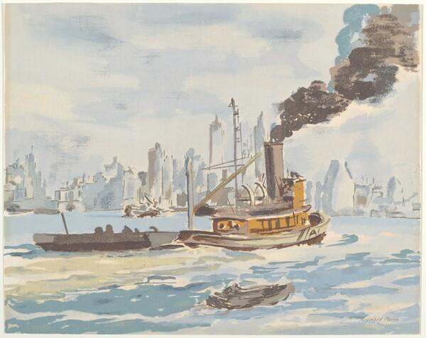 Tug Boat in New York Harbor