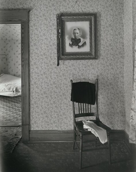 Bedroom with Portrait