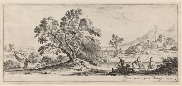 Landscape with Fisherman Carrying his Net