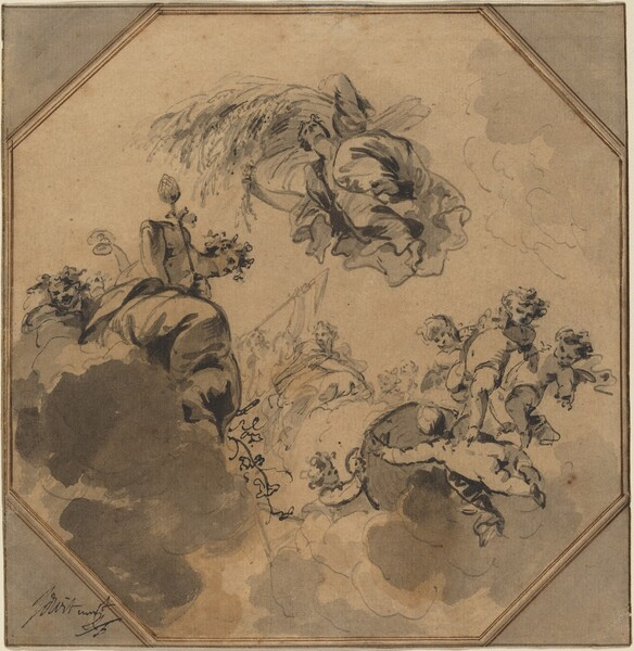 Study for a Ceiling: Allegory of the Harvest with Dionysus and Ceres