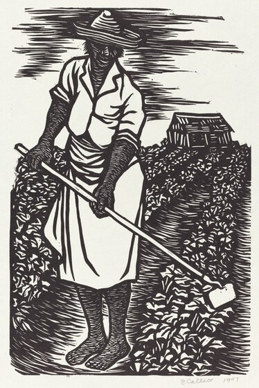 <p>Elizabeth Catlett, In the Fields, 1947