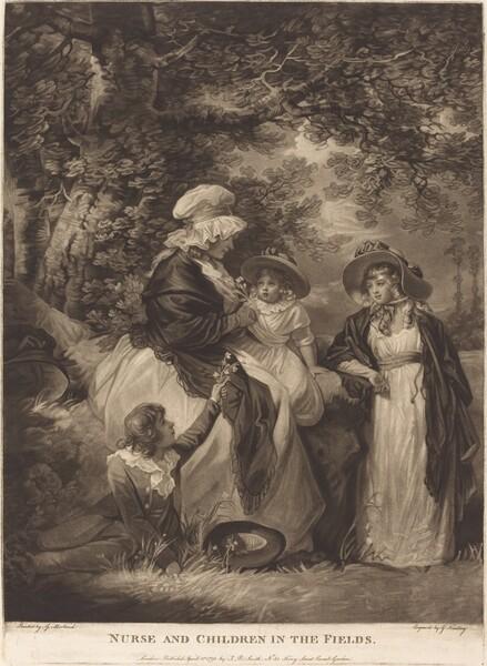 Nurse and Children in the Fields