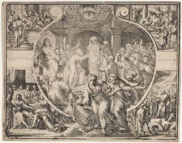 Raising of Lazarus with Scenes from the Life of Christ