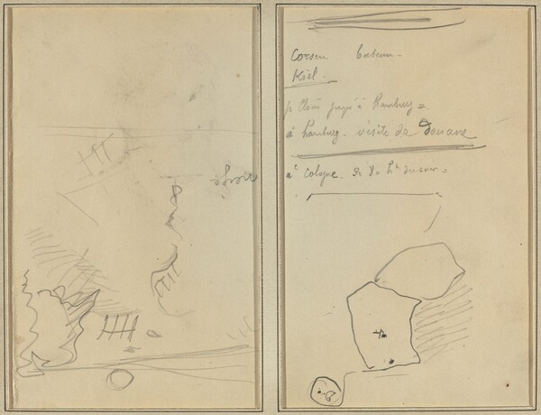 Head of a Monkey; Inventory of Bottles and Beverages [verso]