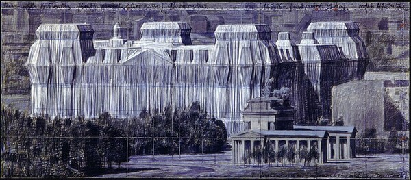 Wrapped Reichstag: Project for Berlin [bottom panel]