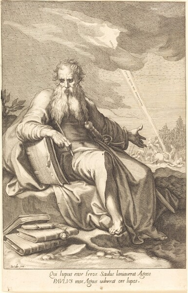 Saint Paul, Seated