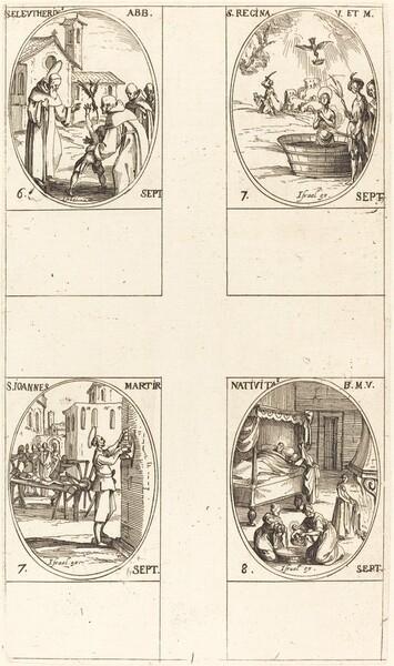 St. Eleutherius, Abbot; St. Regina;  St. John; The Nativity of the Virgin