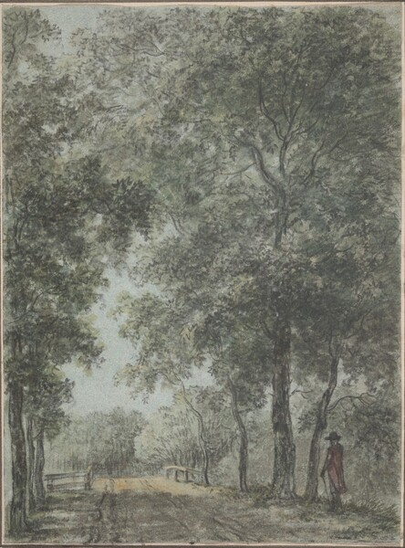 A Wooded Path at Treslong, near Hillegom