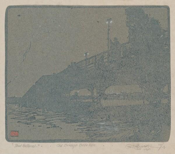 Mood Nocturnal  -.. Old Bridge Bell Isle..