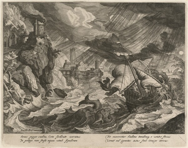Jonah Thrown into the Stormy Sea
