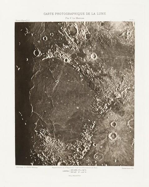 Carte photographique de la lune, planche IX.A (Photographic Chart of the Moon, plate IX.A)