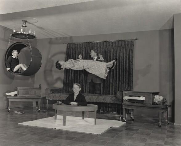 Baron La Velle (Lawrence Jones) in His Home Theater, Louisville, Kentucky