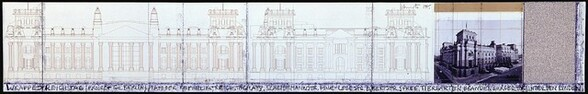 Wrapped Reichstag, Project for Berlin [top panel]