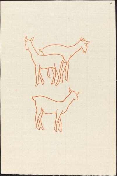 First Book: Three Goats, First Plate (Chevreaux, premiere planche)