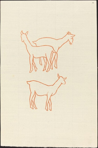 First Book: Three Goats, First Plate (Chevreaux, premiere planche)