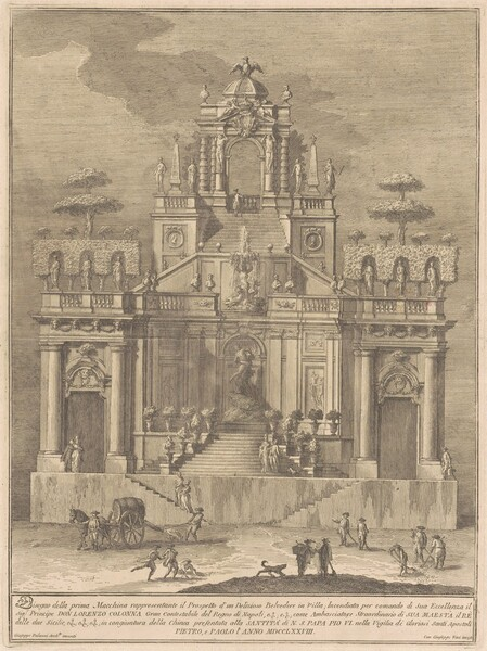 The Prima Macchina for the Chinea of 1778: A Countryside Belevedere with Hercules and Antaeus
