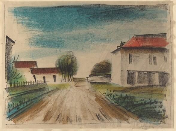 Entrance to a Village [La Route de Francheville II]
