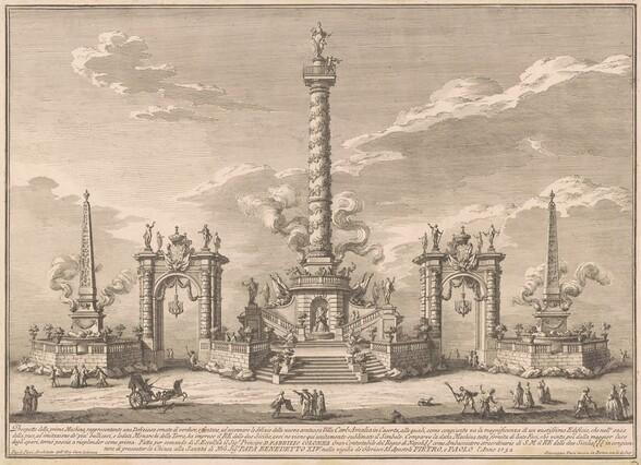 The Prima Macchina for the Chinea of 1752: A Deliziosa Alluding to Villa Carl