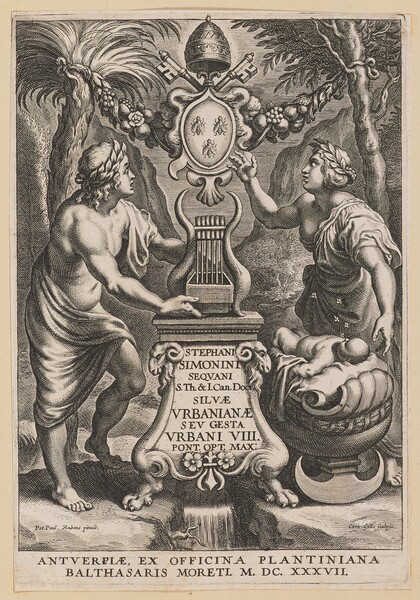 Title Page for Stephanus Simonini, Silvae Urbaninae