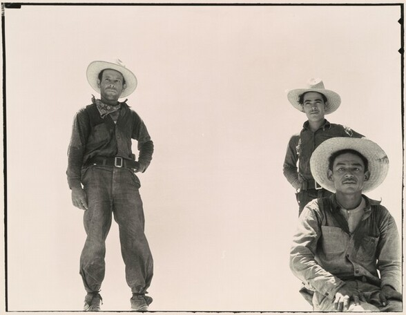 Mexican workers leaving for melon fields, Imperial Valley, California
