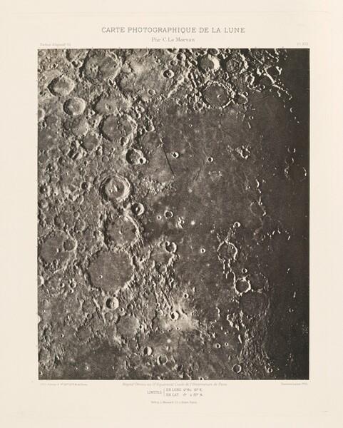 Carte photographique de la lune, planche XIX (Photographic Chart of the Moon, plate XIX)