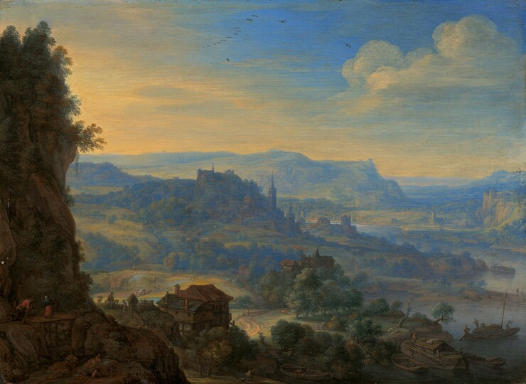 Herman Saftleven, Imaginary River Landscape, 16701670