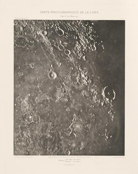 Carte photographique de la lune, planche XX (Photographic Chart of the Moon, plate XX)