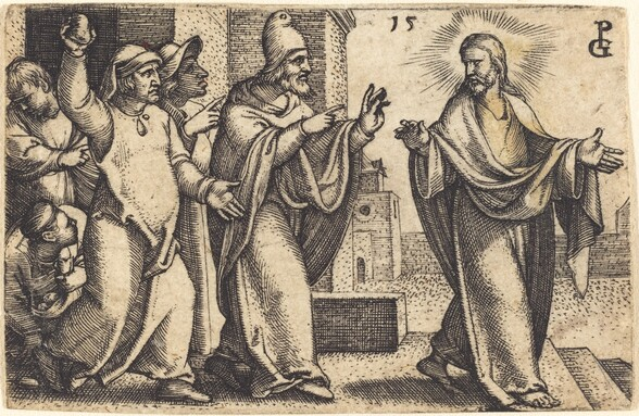 The Pharisees Wish to Stone Christ