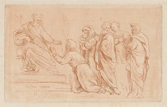 Adonias Imploring the Grace of Solomon or Jeroboam Kneeling before Rehoboam