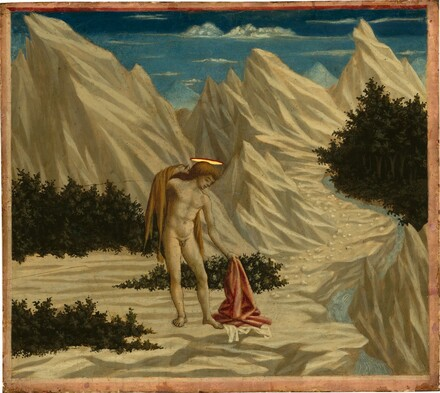 Domenico Veneziano, Saint John in the Desert, c. 1445/1450c. 1445/1450