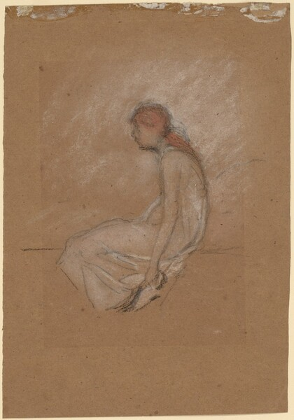 Seated Woman with Red Hair