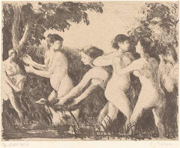 Baigneuses luttant (Bathers Wrestling)