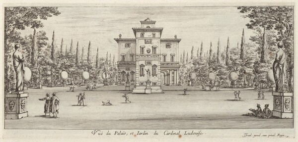 Vuë du Palais et Jardin du Cardinal Ludovise