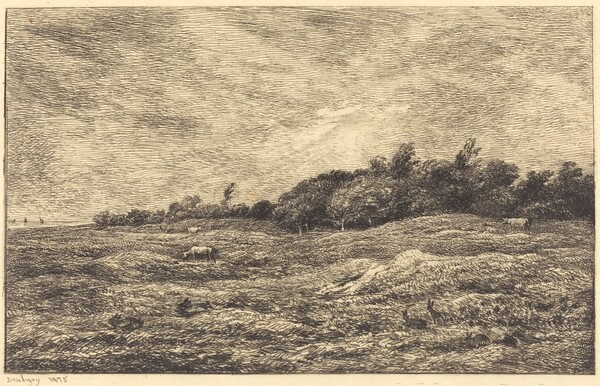 The Meadow at Grave, near Villerville  (Le Pre des Graves, a Villerville)