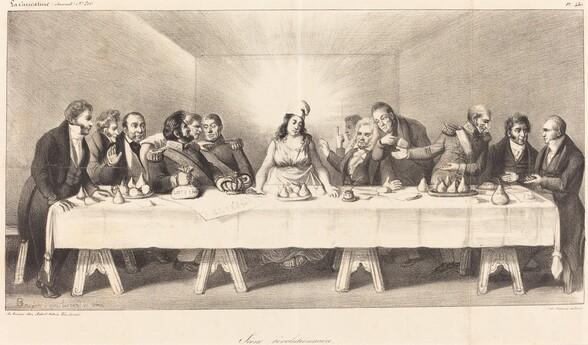 Scène révolutionnaire: Parody on the Last Supper