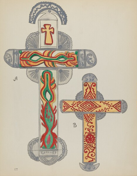 Plate 47: Crosses of Tin: From Portfolio Spanish Colonial Designs of New Mexico