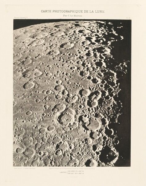 Carte photographique de la lune, planche IV (Photographic Chart of the Moon, plate IV)