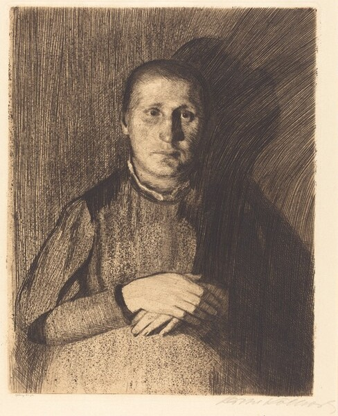 Woman with Folded Hands (Frau mit ubereinandergelegten Handen)