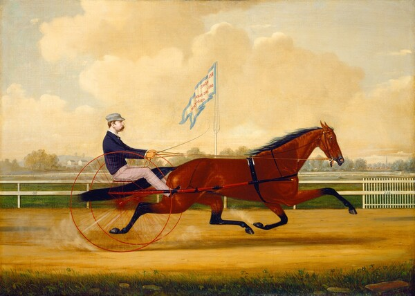 Budd Doble Driving Goldsmith Maid at Belmont Driving Park